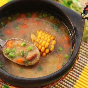 Vegetable Soup with Cajun Seasoning